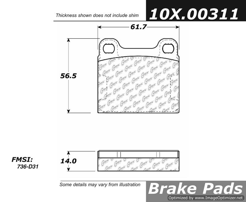 100.00311 OEM Brake Pads Centric Pair