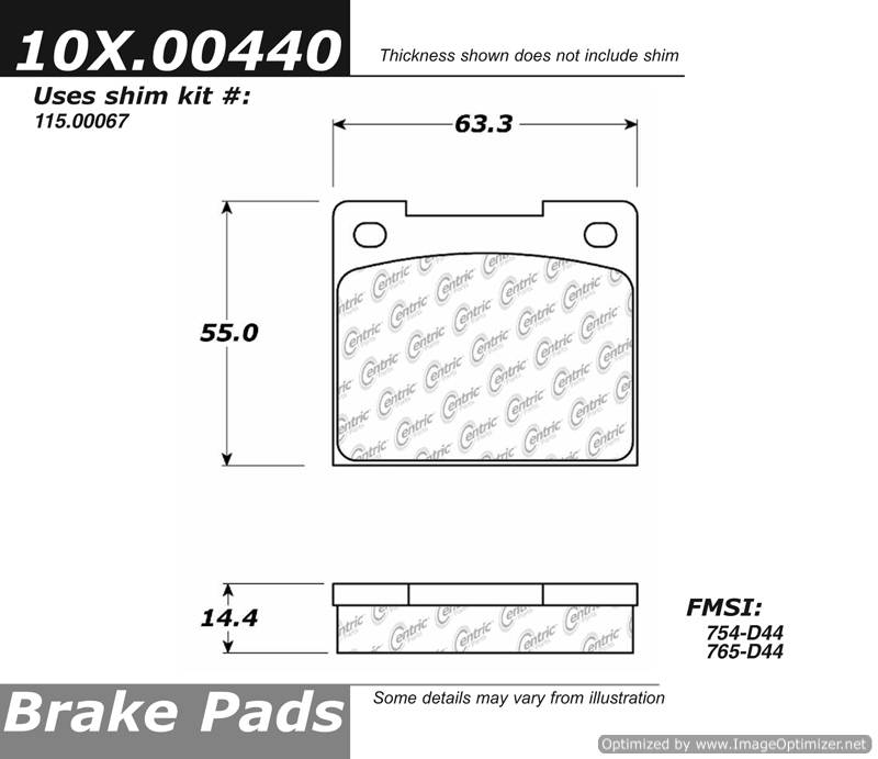 100.00440 OEM Brake Pads Centric Pair
