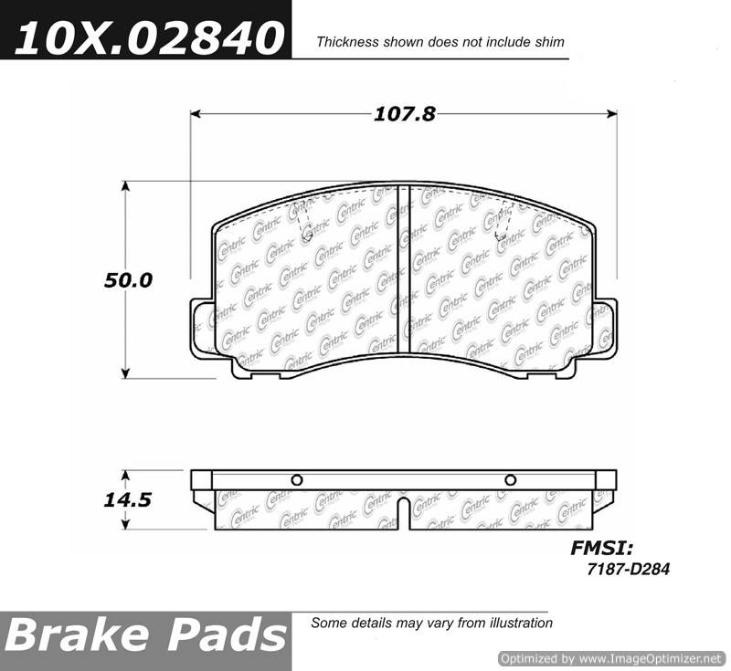 100.02840 OEM Brake Pads Centric Pair