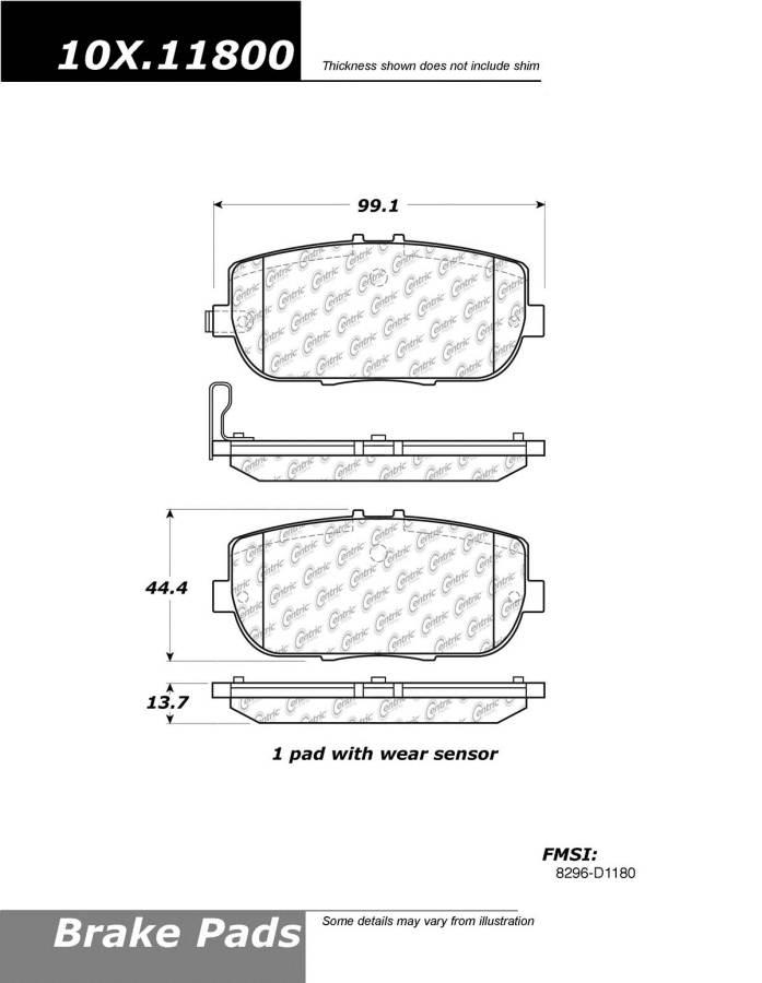StopTech 102.12620 Brake Pad Metallic