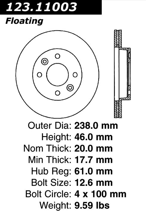 DuraGo BR901280 Rear Solid Disc Brake Rotor Dura International