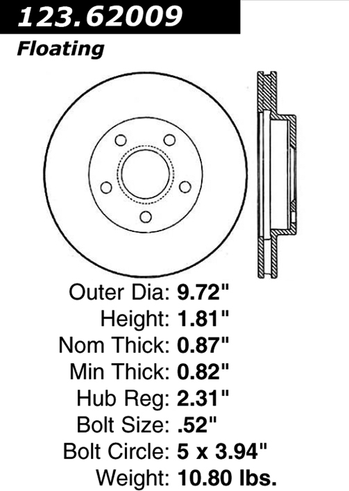 Centric 406.51001E Standard Axle Bearing and Hub Assembly