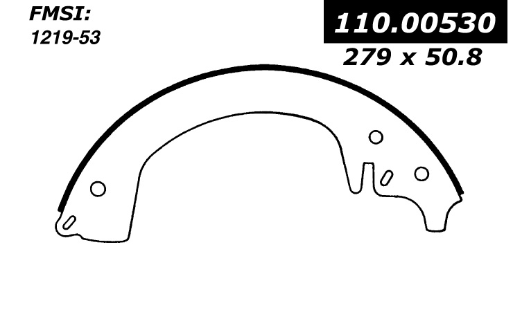 111.00530 Centric Brake Shoes 805890284543