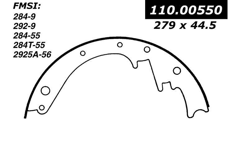 111.00550 Centric Brake Shoes 805890004530