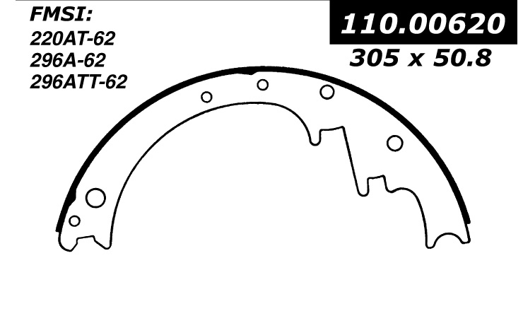 111.00620 Centric Brake Shoes 805890284550