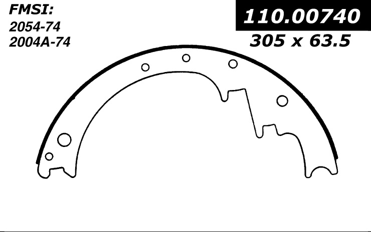 111.00740 Centric Brake Shoes 805890284642